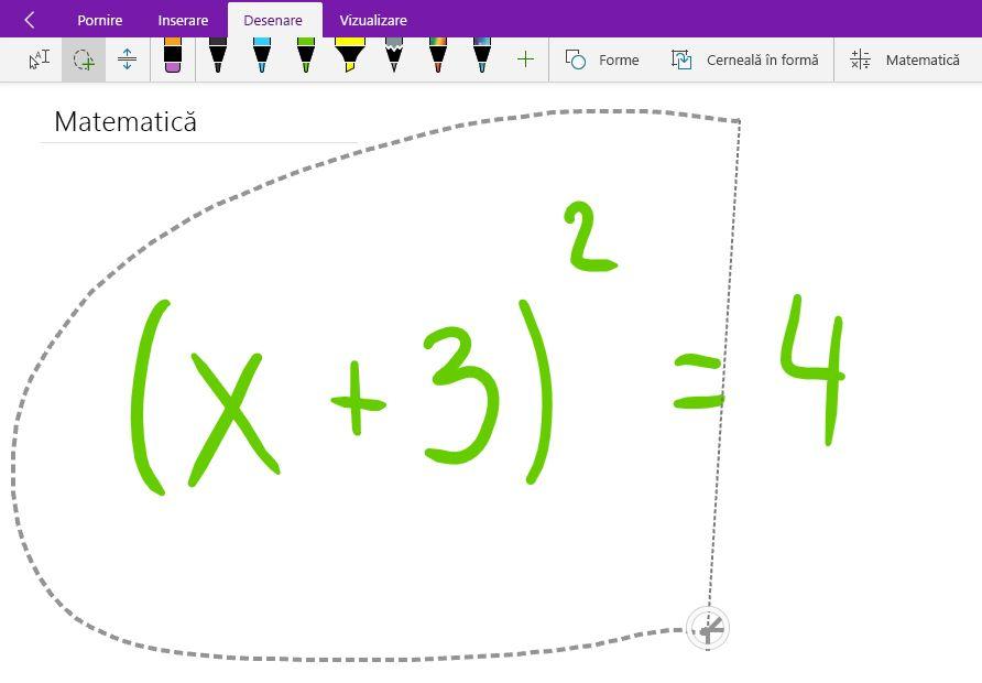 Lasso-selectarea unei ecuații matematice de mână