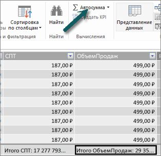 "Кнопка ""Автосумма"" в PowerPivot"