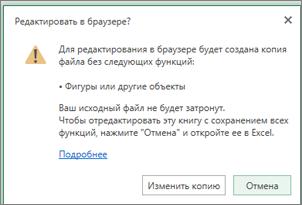 Сообщение при попытке открыть лист с фоновым изображением