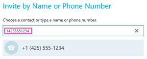 Исходящий звонок на номер телефона в Skype для бизнеса
