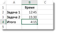 Неожиданный итоговый результат сложения значений, превышающих 24 часа— 4:15