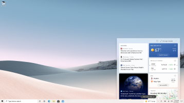 Снимок экрана: новости и интересы, открытые на экране компьютера