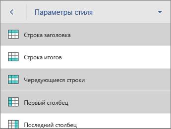 """Команда """"Параметры стиля"""" с выбранным параметром """"Строка заголовка"""""""