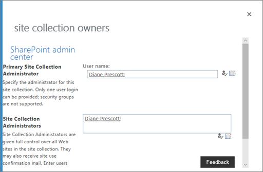 Управление владельцами OneDrive
