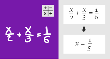 Рукописное уравнение и шаги для его решения