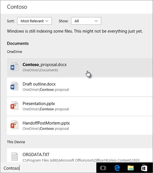 Результаты поиска ваших файлов и данных