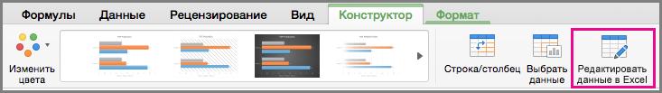 Office для Mac: изменение диаграммы в Excel
