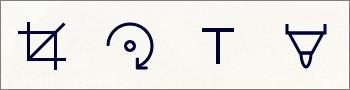 Параметры редактирования снимков в мобильном приложении OneDrive для IOS