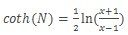Формула гиперболического арккотангенса