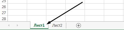 Ярлычки листов Excel находятся в нижней части окна Excel.