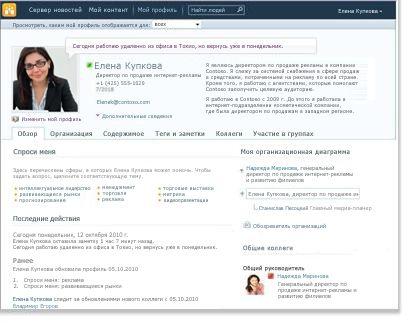 Профиль личного сайта