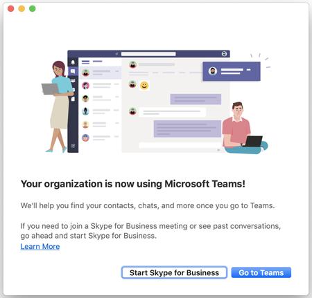 Использование Skype для бизнеса с Teams