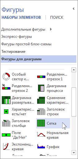 """Набор элементов """"Фигуры для диаграмм"""""""
