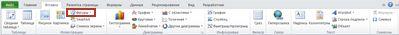 Вкладка «Вставка» с выделенной кнопкой «Фигуры» в приложении Excel 2010.
