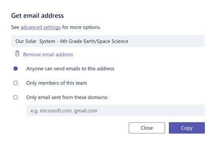 Получение электронной почты