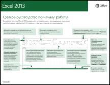 Краткое руководство по началу работы с Excel 2013