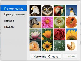 Параметры фотографии контакта Outlook