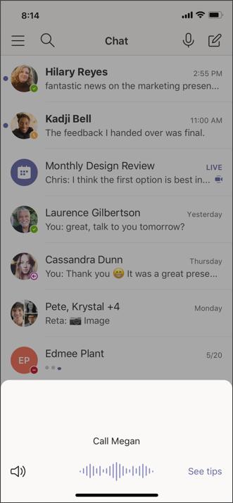 Снимок экрана кортаны для мобильных callscreen 1