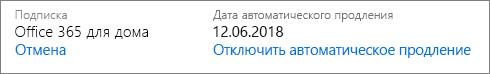 Дата автоматического продления подписки.