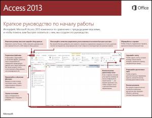 Краткое руководство по началу работы с Access 2013