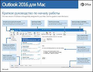 Краткое руководство по началу работы с Outlook2016 для Mac