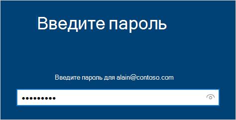 Введите экран пароля