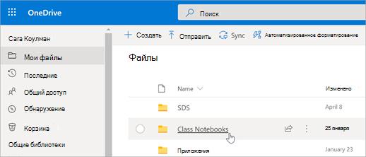 На вкладке Мои файлы выберите пункт записные книжки для занятий.