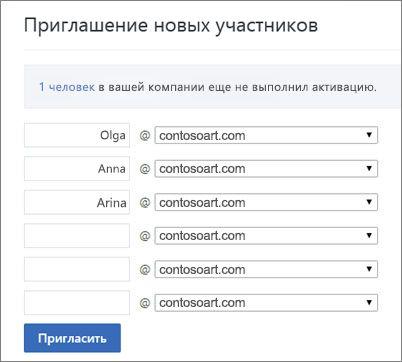 Основной домен указывается при приглашении пользователей в группу Yammer