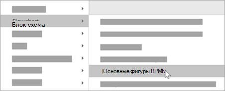 Добавьте основные фигуры BPMN в фигуры.