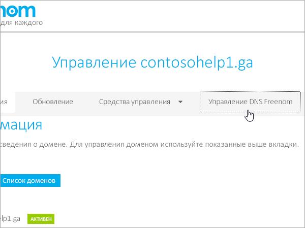 Freenom: выбор управления DNS Freenom_C3_201753014550