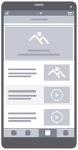 Каркасная схема мультимедийного сайта