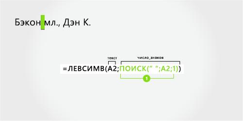 Формула для разделения последним имя и суффикс, с запятой