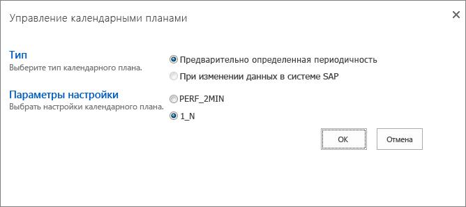 Управление расписанием отчета