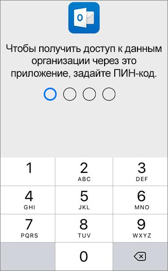 Задайте ПИН-код для доступа к данным организации