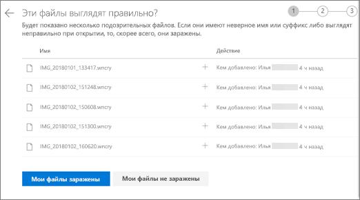 Снимок экрана: эти файлы выглядят на экране справа на веб-сайте OneDrive