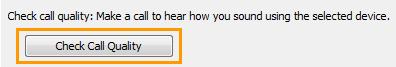 Параметры аудиоустройства в Lync: качество звонка