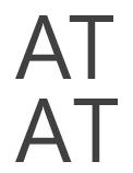 Сравнение символов с кернингом (сверху) и без кернинга
