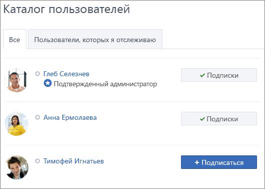 Подписка на действия пользователя
