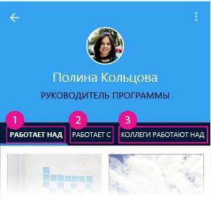 Страница пользователя в Delve для Android