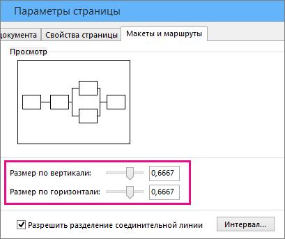 Перетащите ползунки или введите численные значения, чтобы настроить размер значков пересечения линий.