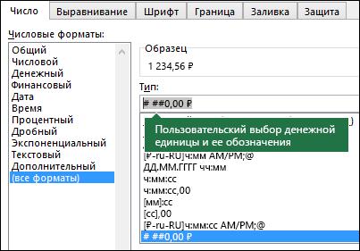 Функция ТЕКСТ— пользовательский денежный формат с обозначением денежной единицы