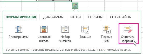 """Команда """"Очистить формат"""""""