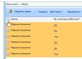 Окно диспетчера сайтов, все вопросы выбраны