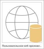 Значок пользовательского веб-приложения Access