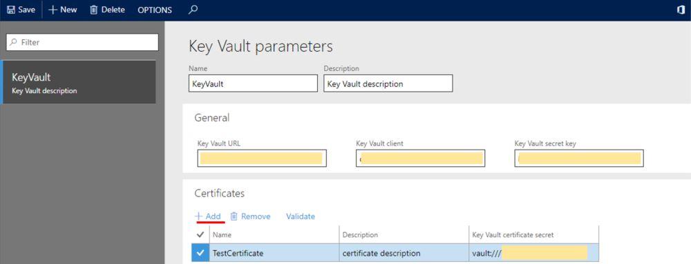 Это изображение показано, как настроить ключ клиента Vault.
