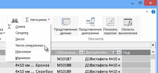 Подсчет различных объектов в PowerPivot