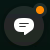 Индикатор кнопки мгновенных сообщений показывает, что доступна новая беседа