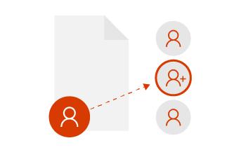 Приглашайте других пользователей для работы над документами.
