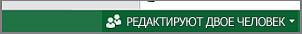 Индикатор, показывающий количество пользователей, совместно работающих с листом