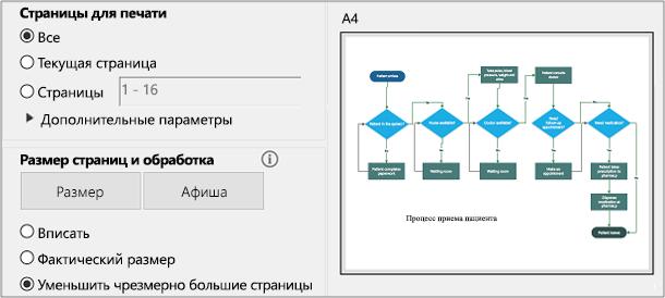 Диалоговое окно печати PDF-файла